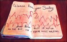 Elena Rogue draw lines while in motion wreck this journal page ideas