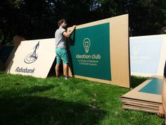 KarTent is a cardboard tent designed for music celebrations KarTent Design Ideas 5 Exterior Ideas