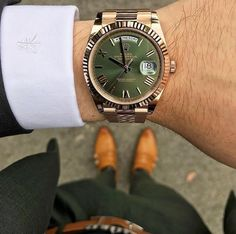 - Rolex Day Date Green Dial Anniversary Luxury Watches, Rolex Watches, Watches For Men, Swiss Army Watches, Rolex Day Date, Vintage Rolex, Oyster Perpetual, Wood Watch, Anniversary