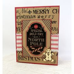 Rustic Christmas Card (€3,77) via Polyvore featuring home, home decor and stationery
