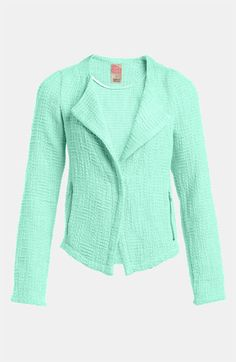 Go Make Noise Textured Drape Front Jacket available at Nordstrom
