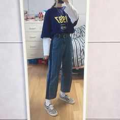 Great prices on stylish korean fashion ideas Mode Outfits, Retro Outfits, Korean Outfits, Grunge Outfits, Trendy Outfits, Vintage Outfits, Korean Clothes, Vintage Clothing, 90s Fashion