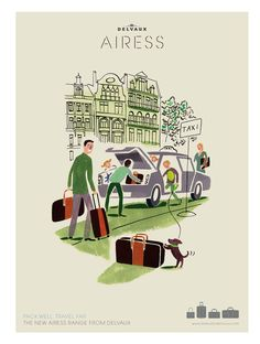 Cool retro illustration for a suitcase brand.