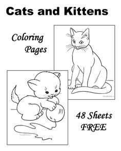 cat color pages printable | ... printable coloring pages ...