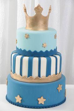 Risultati immagini per bolos decorados com pasta americana Prince Cake, Prince Party, Prince Birthday, Boy First Birthday, Cake Decorating Videos, Cookie Decorating, 60th Birthday Cakes, Cinderella Birthday, Baby Boy Cakes