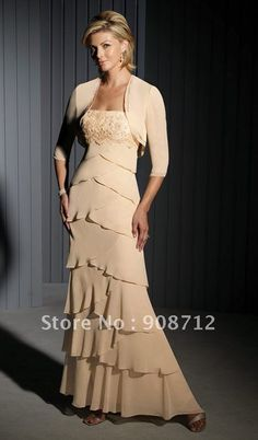 mother of groom dresses long | Fashion Long Sleeve Pleated Taffeta Knee Lenght Mother of Brides Dress ...