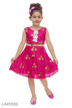 Checkout this latest Frocks & Dresses Product Name: *Stylish Girls Frocks * Fabric: Cotton Blend Sleeve Length: Short Sleeves Pattern: Printed Multipack: Single Sizes: 1-2 Years (Bust Size: 20 in, Length Size: 20 in)  2-3 Years (Bust Size: 22 in, Length Size: 20 in)  3-4 Years (Bust Size: 24 in, Length Size: 20 in)  4-5 Years (Bust Size: 26 in, Length Size: 20 in)  5-6 Years (Bust Size: 28 in, Length Size: 20 in)  6-7 Years (Bust Size: 30 in, Length Size: 20 in)  Country of Origin: India Easy Returns Available In Case Of Any Issue   Catalog Rating: ★4.1 (2861)  Catalog Name: Fancy Stylish Girls Frocks Vol 12 CatalogID_641734 C62-SC1141 Code: 852-4451689-975