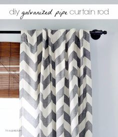 41 More DIY Farmhouse Style Decor Ideas - DIY Galvanized Pipe Curtain Rod - Creative Rustic Ideas for Cool Furniture, Paint Colors, Farm House Decoration for Living Room, Kitchen and Bedroom http://diyjoy.com/diy-farmhouse-decor-projects