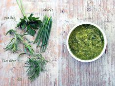 Green Goddess Dressing - herbs