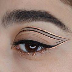 eyeliner styles for big eyes ; eyeliner styles for hooded eyes ; eyeliner styles simple step by step ; eyeliner styles different Makeup Eye Looks, Eye Makeup Art, Eyeliner Looks, No Eyeliner Makeup, Cute Makeup, Pretty Makeup, Makeup Inspo, Makeup Inspiration, Beauty Makeup