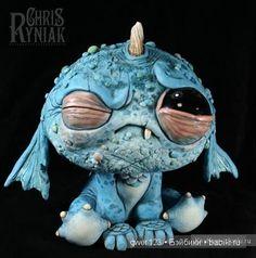 Причудливые монстрики из полимерной глины от художника Chris Ryniak (США) / Интересненькое / Бэйбики. Куклы фото. Одежда для кукол