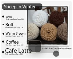 Red Heart Super Saver Color Mix: Sheep In Winter