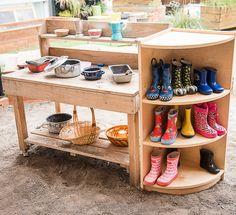 Outdoor mud kitchen!