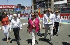 Alberto Fabra en el GP de Europa de F1 en Valencia
