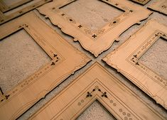 Laser cut & engraved wood frames by brevity.