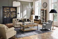 Vitrinas para Salón: Las 12 Más Elegantes Pine Bookcase, Black Bookcase, Ladder Bookcase, Home Living Room, Living Room Furniture, Living Room Decor, Living Spaces, Affordable Furniture, Home Interior Design