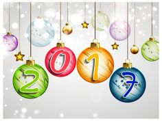 happy new year 2017 clip art - - Yahoo Image Search Results Christmas Balls, Christmas And New Year, Merry Christmas, Holiday Wishes, Holiday Fun, Happy New Year Wallpaper, Happy 2017, New Year Message, New Year Images