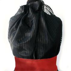 150cm 60 Black Striped Organza Fabric Goth wedding
