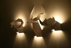 Verónica Posada is the Chilean Industrial Designer that directs Si Studio based out of Santiago and she has created these trophy lamps that represent that of a hunters prize but in with the playfulness of origami.