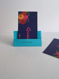 Porta bigliettini da visita origami