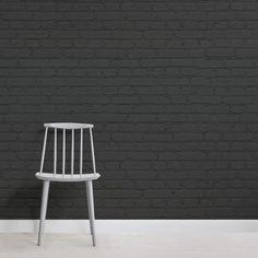 Realistic Brick Wall Murals & Brick Effect Wallpaper Black Brick Wallpaper, Brick Wallpaper Mural, Brick Pattern Wallpaper, Bedroom Wallpaper, Photo Wallpaper, Wallpaper Ideas, Faux Brick, Exposed Brick, Painted Brick Walls