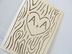 Laser Cut Tree Wedding Invitation Fall Wedding by LavenderPaperie1