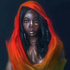 """Tribe"" illustrated by Niko Metsala. . . #tribe #tribegram #tribal #africa #african #africanart #blackart #afroart #facepaint #bodypaint #hijab #hijabers #hijabfashion #hijabstyle #darkskin #darkskinned #fantasyart #fantasy #artoftheday #arte #artwork #illustration by nubiamancy"