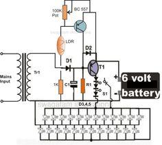 Dark Sensor With LDR, Transistor and a LED   Pinterest   Ldr circuit ...