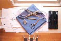 Archer Sew Along   Day 2   Cutting the Fabric ++ via grainline