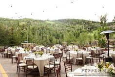 Perfect Event Setting at Deer Valley with products from Alpine Event Rentals.