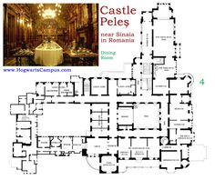 Peles Castle Floor Plans And Castles On Pinterest