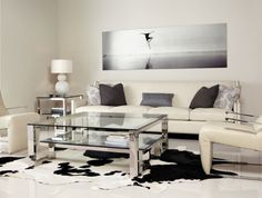 Bernhardt Interiors Imperial Side Table (with Palisades Sofa & Imperial Cocktail Table).