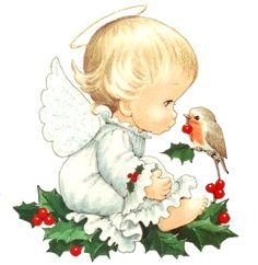 Cute Christmas Baby Angel With Bird Clipart By Joeatta78 On Deviantart