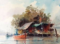 water color by Adisak Soisuriya