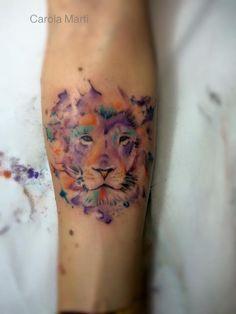 Tattoo de Carola Martín Lion watercolor