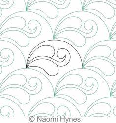 Drifting Clamshells P2P | Naomi Hynes | Digitized Quilting Designs