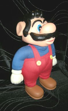 """1989 Super Mario Bros Character Doll, Rubber & Cloth by Applause, 12"""" tall #Applause"""