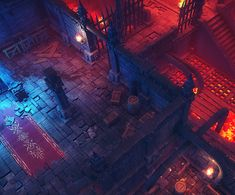 Modular Top-down Dungeon Pack - Low Poly, Rafał Urbański on ArtStation at https://www.artstation.com/artwork/RL0PW