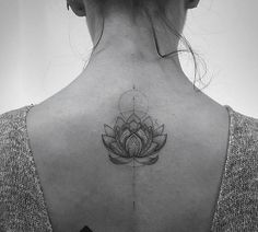Amazing lotus tattoo!! Elegant detail