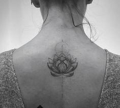 Amazing lotus tattoo!! Elegant detail