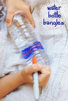 Water Bottle Bangles for kids to make - This is so cool!