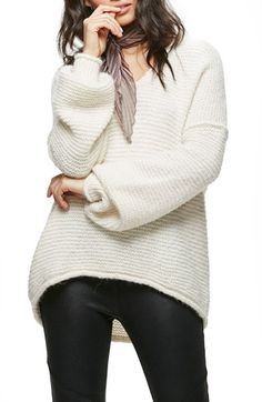 Free shipping and returns on Free People All Mine Sweater at Nordstrom.com. There's something undeniably alluring about a perfectly slouchy sweater. This richly textured iteration features a generous V-neckline and cool dropped shoulders.