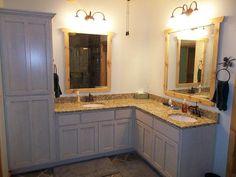 L Shaped Bathroom Vanity Double Sinks Dream Home Pinterest Bathroom Vanities And Sinks