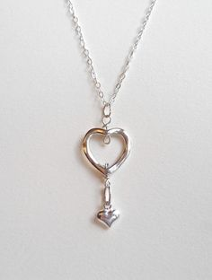 Double Heart Necklace Love Necklace