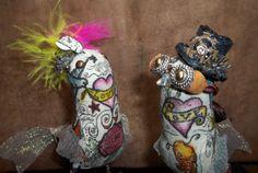 Wedding Cake Topper Ferdi Birds  Steam Punk version by ferdworthi, $102.00
