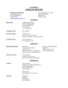 high school senior resume sample scope of work template