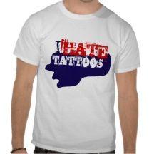 I HATE TATTOOS T-shirt Ink Revolution Love God Tee