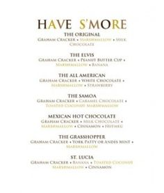 Smores Recipes, for a fun summer party!