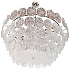 Rare Mazzega Murano Chandelier | From a unique collection of antique and modern chandeliers and pendants  at http://www.1stdibs.com/furniture/lighting/chandeliers-pendant-lights/