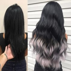 Before and after Clip in Human Hair Extensions
